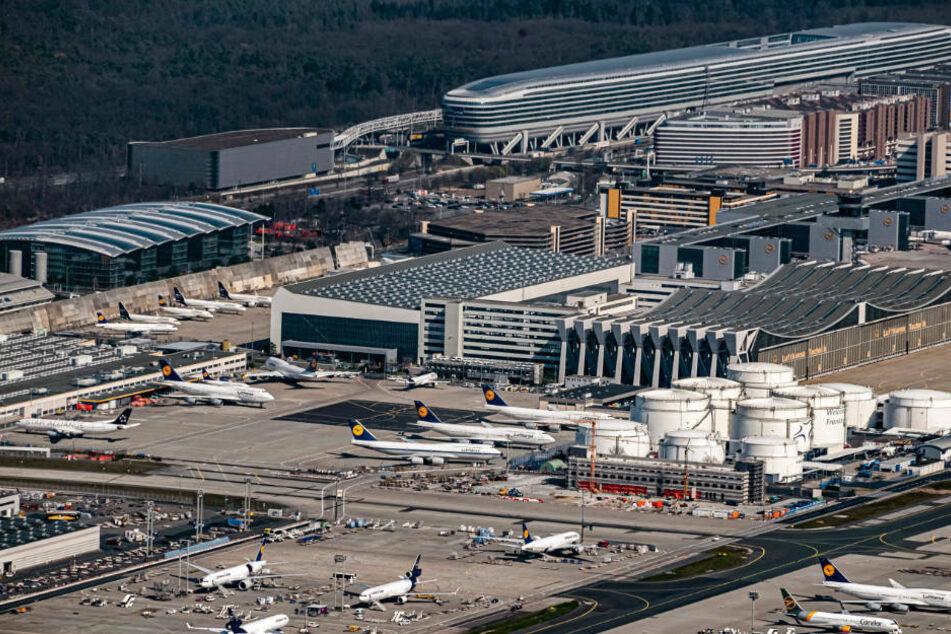 Ganz langsam steigen am Flughafen Frankfurt wieder die Messe Frankfurt will 2023 Vor-Corona-Niveau erreichenFluggast-Zahlen (Archivbild).