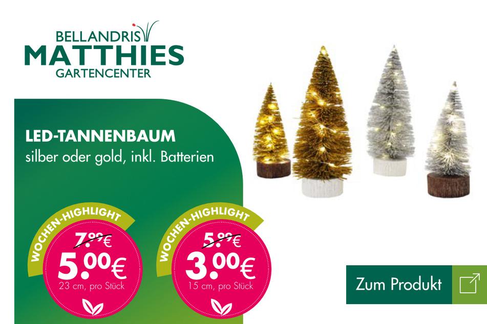 LED-Tannenbaum ab 3 Euro.