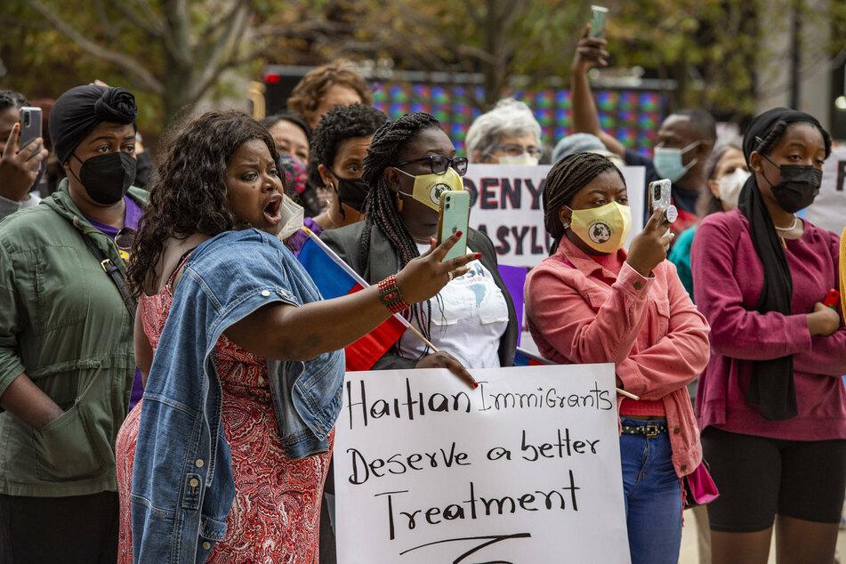 Civil-rights activists have decried the treatment of Haitian migrants.
