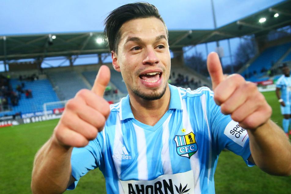 Daumen hoch: Stefano Cincotta (29) spielte bei keinem Verein in seiner Profilaufbahn länger als beim Chemnitzer FC.