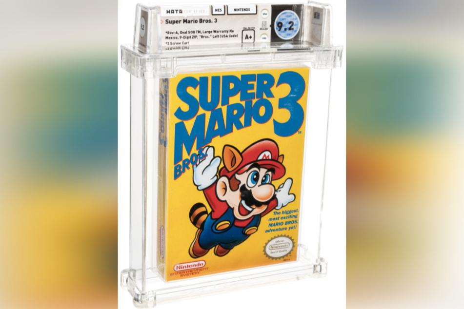 """Original verpacktes """"Super Mario Bros. 3"""" aus dem Jahr 1990."""