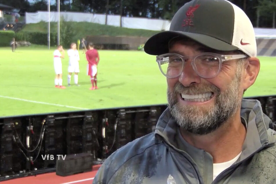Liverpool-Coach Jürgen Klopp (53) war nach dem Testspiel gegen den VfB Stuttgart im Interview mit VfB TV gut gelaunt.