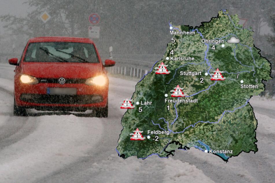 Bibber-Wetter in Baden-Württemberg: Jetzt regnet und schneit es bei uns