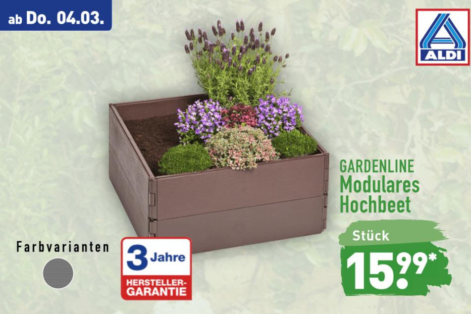 Modulares Hochbeet von Gardenline ab Donnerstag für 15,99 Euro bei ALDI in Genthin