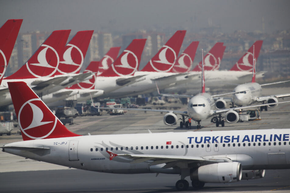Flugzeuge der Turkish Airlines in Istanbul.
