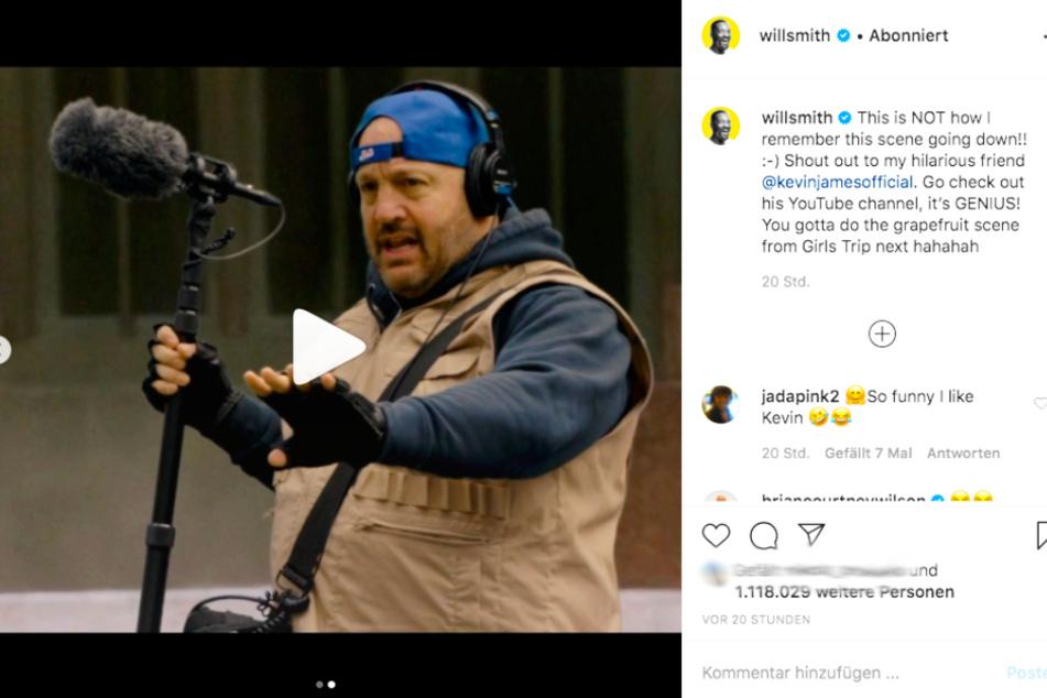 Kevin James sorgt in diesem Video gemeinsam mit Will Smith für Lacher.