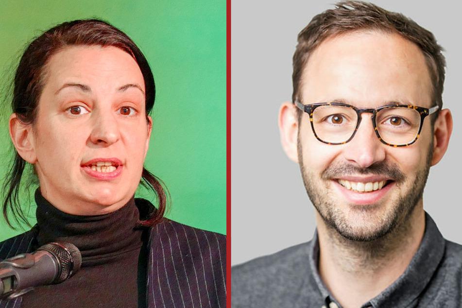 Das Partei-Büro der Grünen-Landtagsabgeordneten Christin Melcher (37) und Dr. Daniel Gerber (35) wurde von Aktivisten beschmiert.