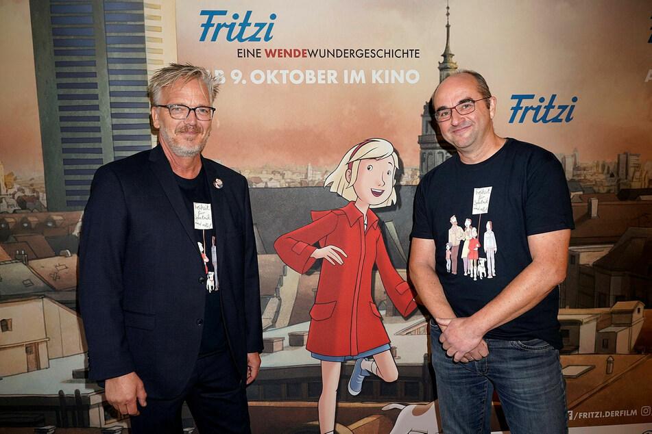 """""""Mein persönlichster Film"""": Produzent Ralf Kukula (58, r.) und Regisseur Matthias Bruhn bei der Premiere im Oktober 2019."""