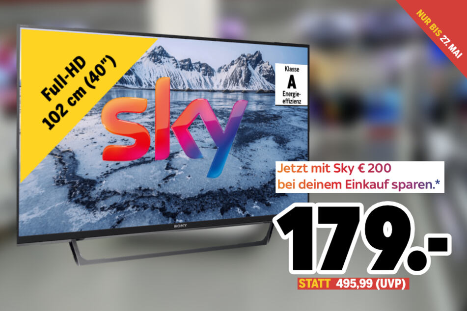 TV sichern und mit Sky gleich noch einmal weitere 200 Euro sparen!