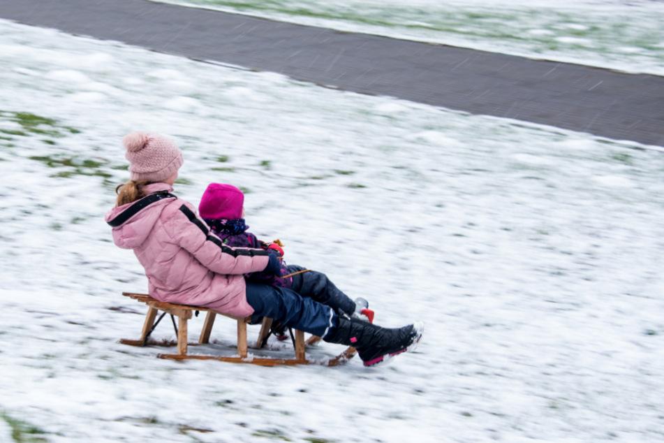 Derzeit ist nicht absehbar, wann wieder Schnee in Hamburg liegt, der zum Rodeln ausreicht. (Archivbild)
