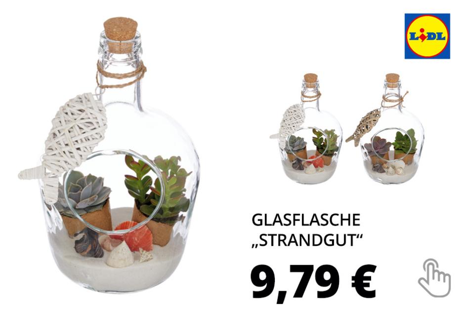 "Glasflasche ""Strandgut"""