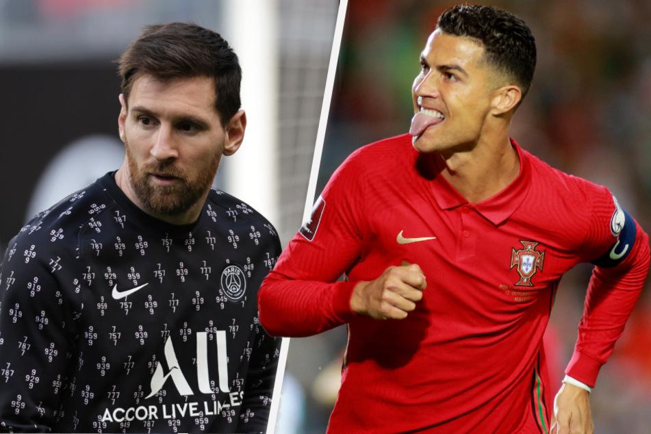 Lionel Messi (34, li.) oder Cristiano Ronaldo (36, re.)? Ein Junge (11) hat diese Frage für sich ganz klar beantwortet - und ist deswegen schlecht auf seine Mama zu sprechen. (Bildmontage)