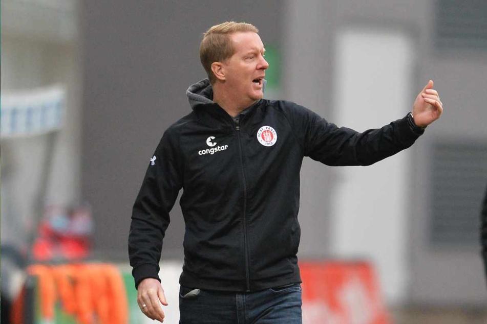 Timo Schultz (43), Trainer des FC St. Pauli, zeigte sich zufrieden, sah aber auch noch einige Defizite. (Archivbild)