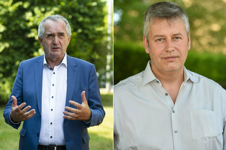 SPD-Mitglied Albrecht Pallas (r.) setzt sich für bezahlbare Bauten ein. CDU-Politiker Thomas Schmidt (60) spricht sich gegen eine Regulierung aus.