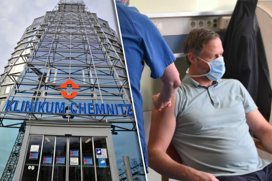 Die ersten Ärzte und Mitarbeiter haben sich im Klinikum Chemnitz gegen Corona impfen lassen.