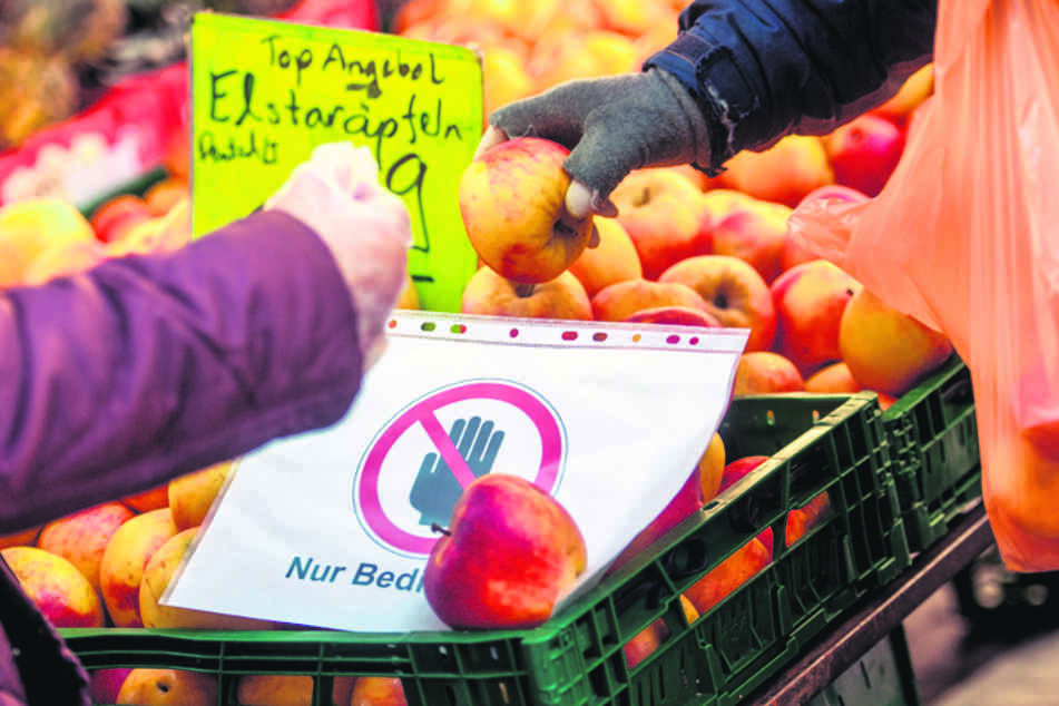 Der Wochenmarkt in Chemnitz wurde gestern dann doch dichtgemacht.