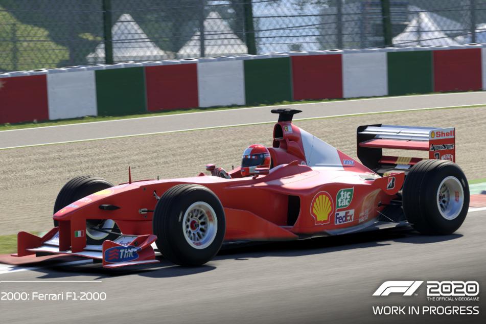 """In der """"Schumacher Deluxe Edition"""" haben wir unter anderem Zugriff auf vier ikonische Rennwagen, die Michael Schumacher in seiner Karriere gefahren ist. Mit dabei: der Ferrari F1-2000."""