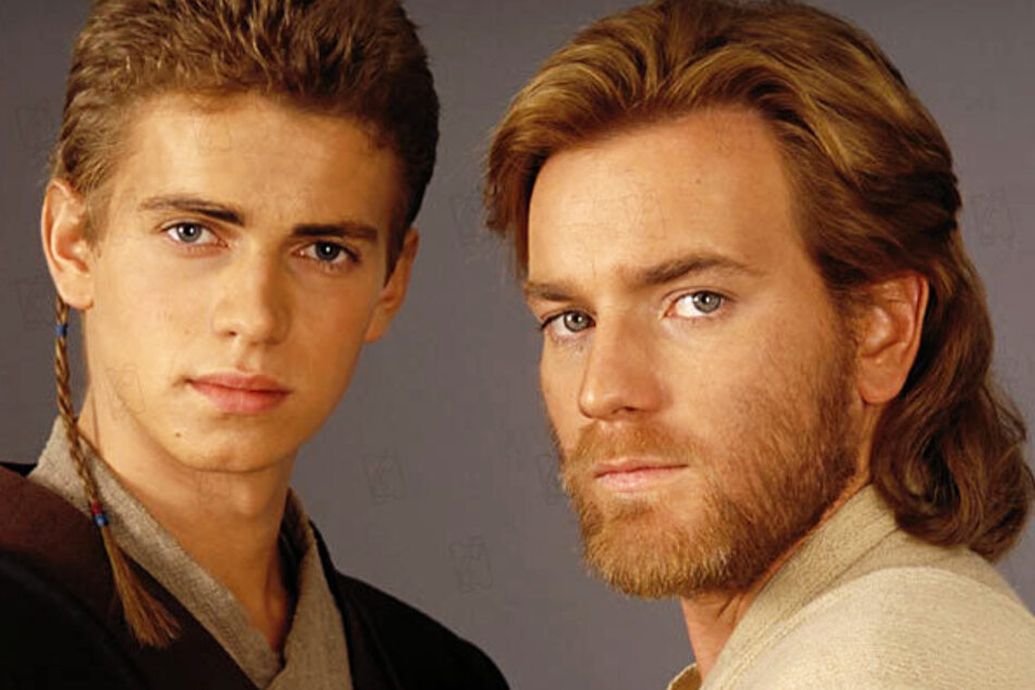 Obi-Wan Kenobi (Ewan McGregor, 49, r.) will once again face Darth Vader/Anakin Skywalker (39, Hayden Christensen) in his series.