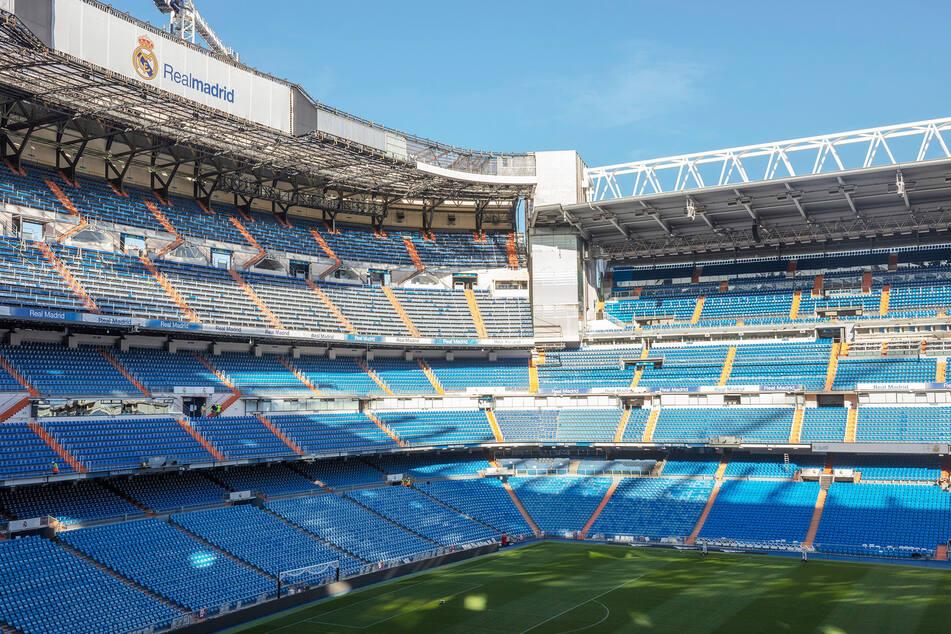 Blick in das Estadio Santiago Bernabéu.