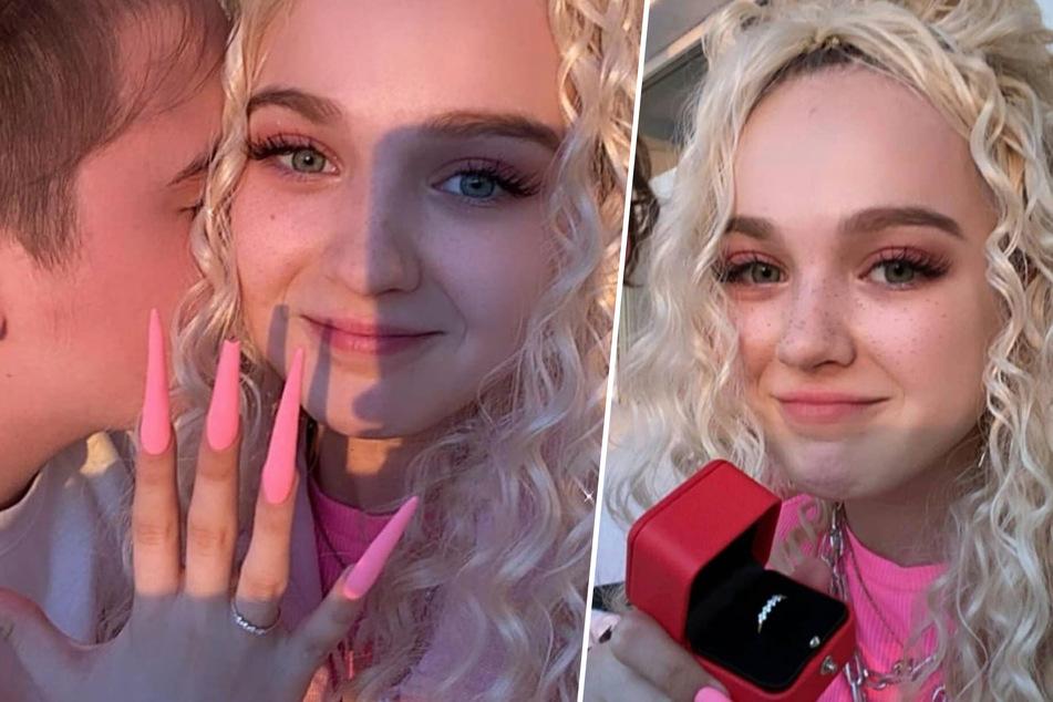 Zufrieden lächelnd streckt Darya Sudnishnikova (15) ihren funkelnden Ring in die Kamera.