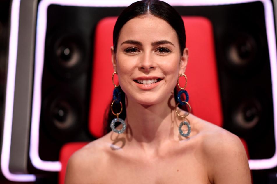 """Lena Meyer-Landrut am Rande der Sendung """"The Voice Kids""""."""