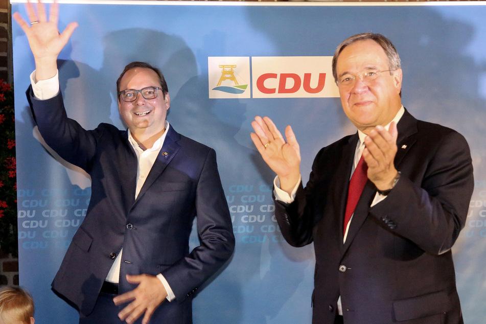 Der Essener OB Thomas Kufen (l) und NRW-Ministerpräsident Armin Laschet.