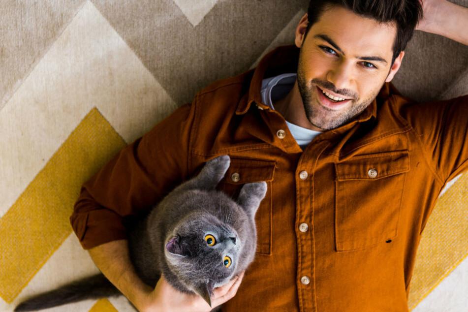 Männer mit Katze wurden als weniger männlich von den befragten Damen eingestuft.