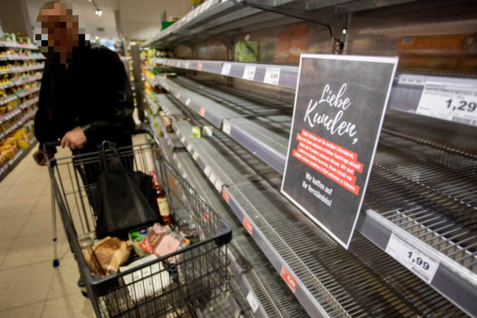 In einem Grünauer Supermarkt sorgte ein Hamsterkäufer (66) für Stress.