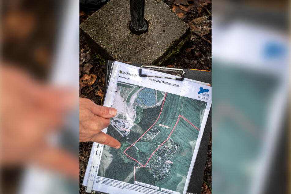 Urgemarkung: Auf dem Beutenberg am östlichen Stadtrand ist die ursprüngliche Chemnitzer Grenze noch erhalten.