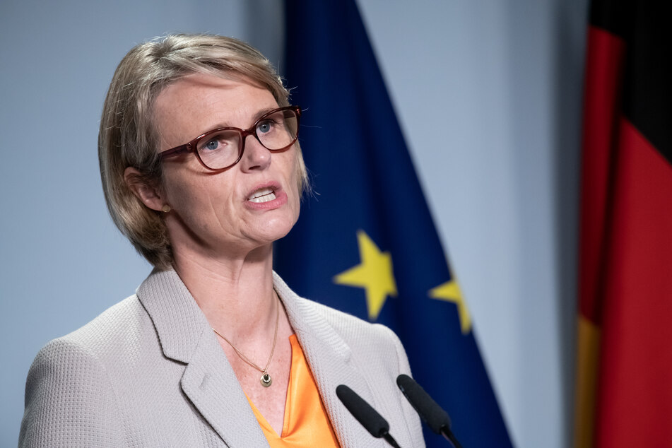 Anja Karliczek (CDU), Bundesministerin für Bildung und Forschung, spricht während eines Informellen Treffens der EU-Forschungsminister im Juli in Berlin.