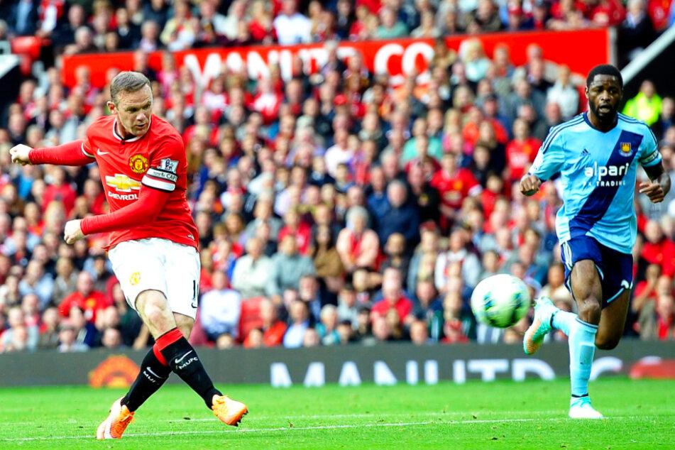 """Wayne Rooney (35, l.) ist mit satten 253 Treffern in 559 (!) Einsätzen für Manchester United auch der Rekordtorschütze der """"Red Devils"""". Hinzukommen noch 146 direkte Vorlagen."""