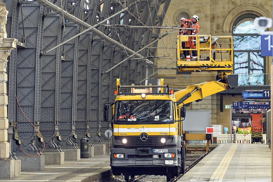Sanierung: Dresdner Hauptbahnhof muss eine Nacht lang schließen