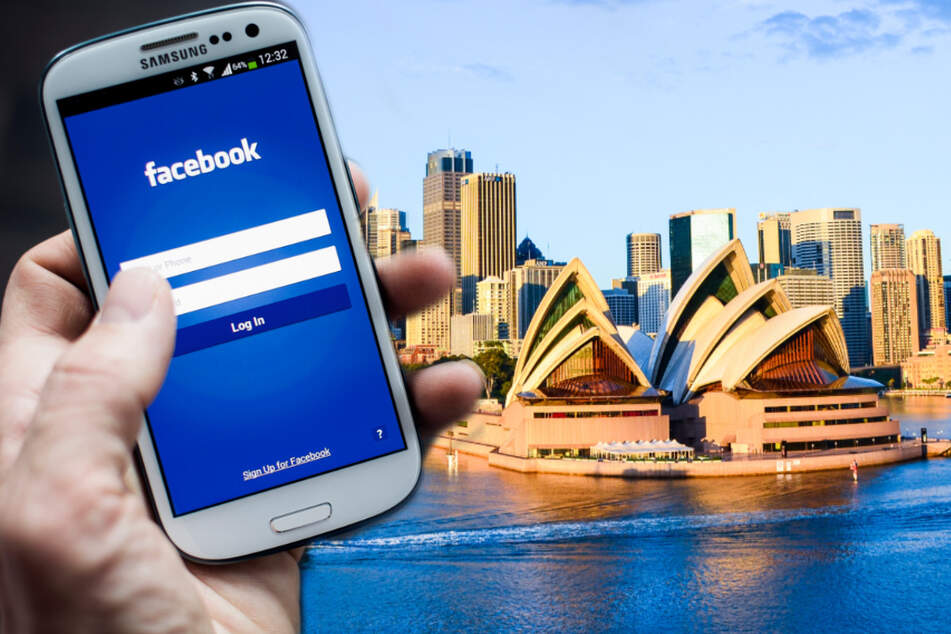 The controversy between Facebook and the Australian government concerns the proposal for a new media code in the country (collage, stock images).