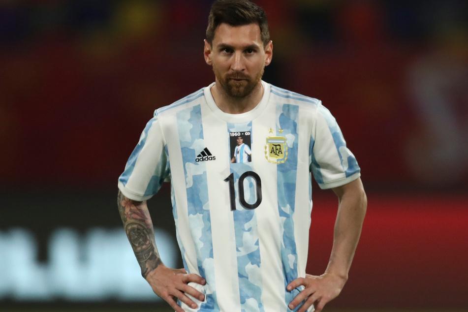 Superstar Lionel Messi (33) trug vor dem Spiel ein Trikot