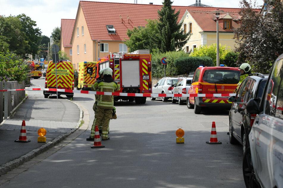 Die Hebbelstraße wurde sicherheitshalber gesperrt.