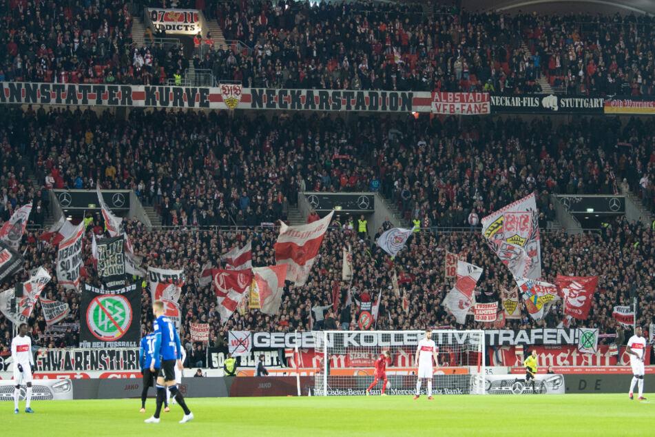 54.302 Zuschauer sahen in der Mercedes-Benz-Arena das Zweitliga-Spitzenspiel zwischen dem VfB Stuttgart und Arminia Bielefeld.
