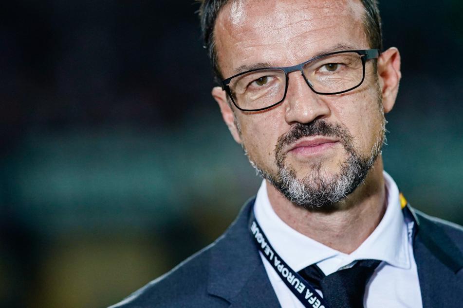 Das Foto aus dem Oktober 2019 zeigt Eintracht Frankfurts Sport-Vorstand Fredi Bobic (48). © Uwe Anspach/dpa