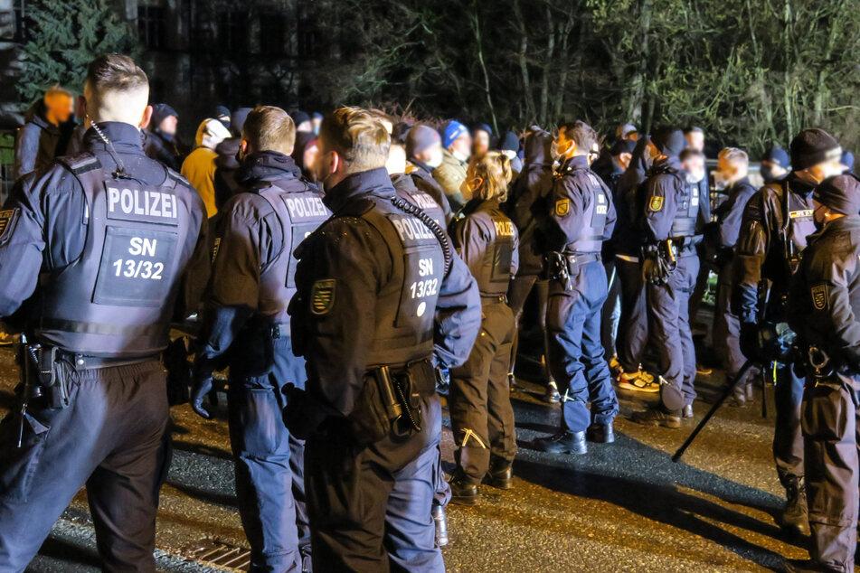 In Schneeberg versammelten sich am Samstagabend rund 230 Personen.