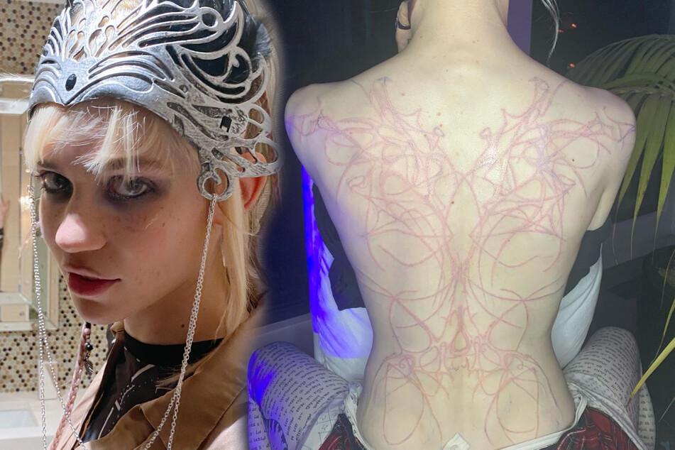 Alien-Narben: Elon Musks Freundin zeigt schmerzhaftes Haut-Kunstwerk