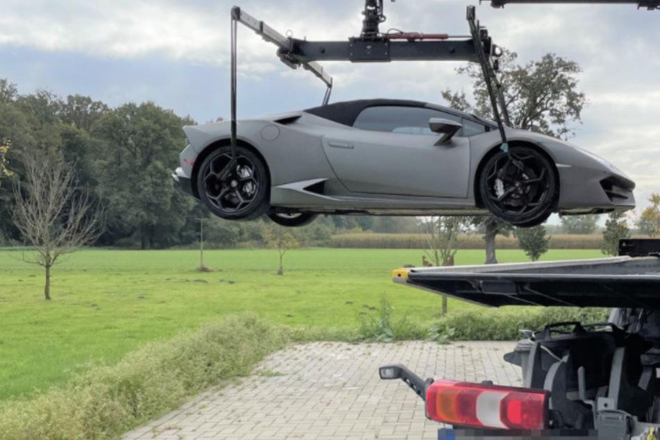 Bei den Ermittlungen wurde auch ein Lamborghini Huracan beschlagnahmt.