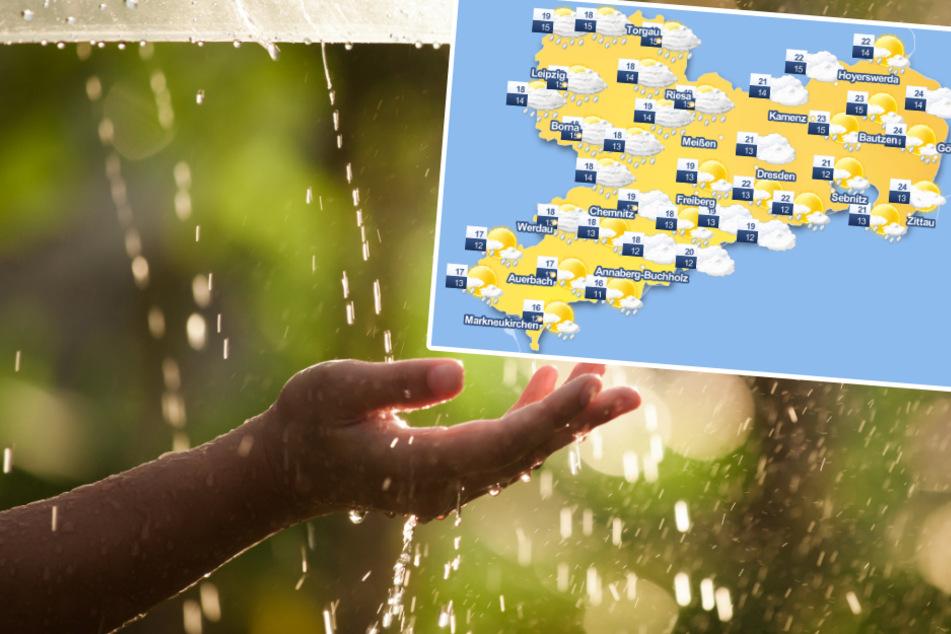 Wetter in Sachsen: Auf den Sommertag folgen Gewitter