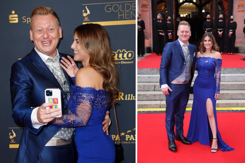 Knossi und seine Freundin Lia Mitrou (24) genossen die TV-Gala in vollen Zügen und schäkerten für die Fotografen auf dem Roten Teppich herum. (Fotomontage)