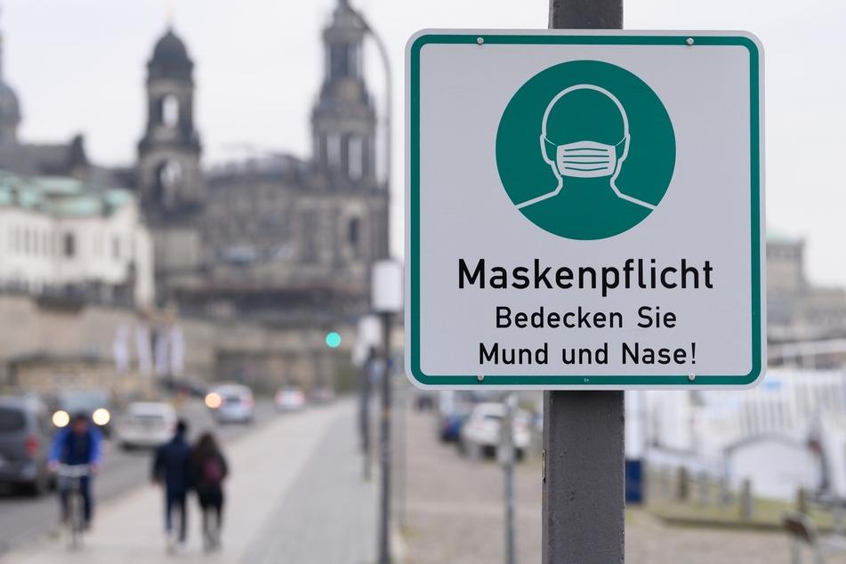 Maskenpflicht bleibt oberstes Gebot in Dresden: Die Inzidenz in der sächsischen Hauptstadt liegt derzeit bei 140,1.