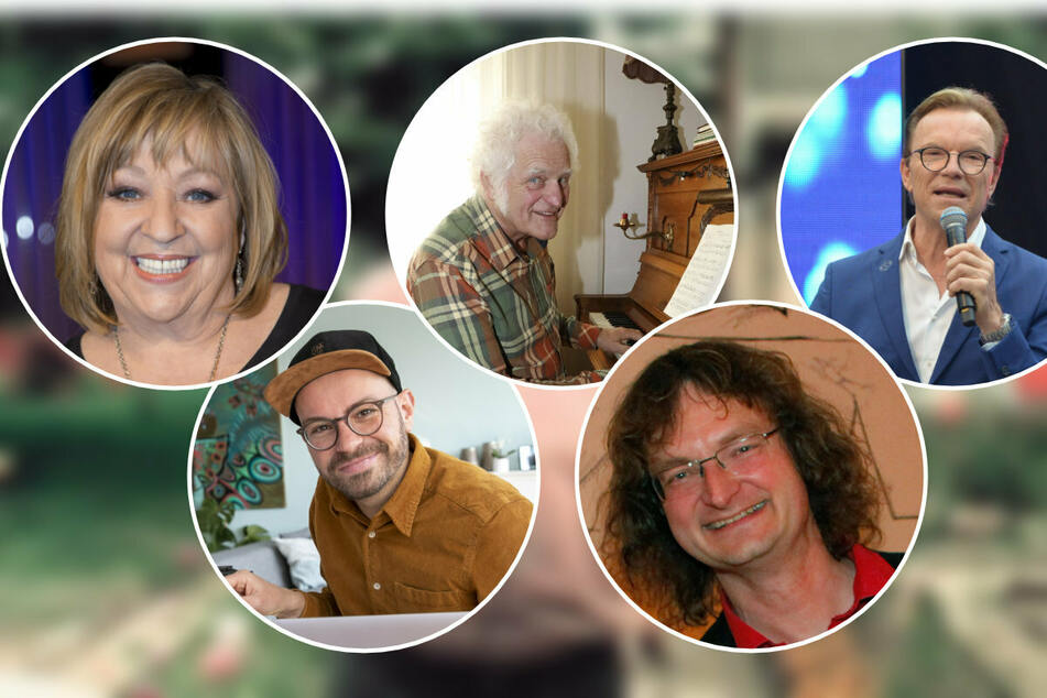 "Sie denken gerne an Herbert Köfer zurück: Angelika Mann (72, l. - r.), Christian Kühn (39), Jürgen Mai (70), Kay ""Leo"" Leonhardt und Wolfgang Lippert."