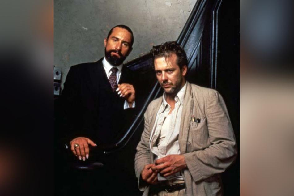 """Ein Bild aus besseren Tagen: Mickey Rourke (r) und Robert De Niro im Mystery-Thriller """"Angel Heart"""" (1987)."""