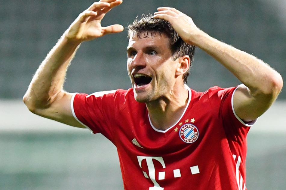 Thomas Müller (30) und seine Mannschaftskollegen müssen im Finale des DFB-Pokals erwartungsgemäß ohne Zuschauer auskommen.