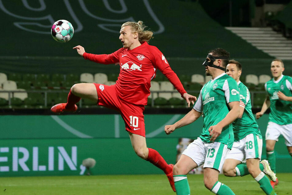 Mit diesem Kunstschuss hatte Forsberg RB Leipzig ins DFB-Pokal-Finale geschossen. Dort gab es ein klares 1:4 gegen den BVB.