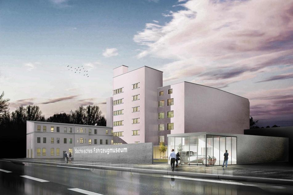 Ein Werbe-Schriftzug an der Zwickauer Straße und ein Zusatzgebäude mit einem Museums-Schaufenster könnten den Museumsstandort aufwerten.