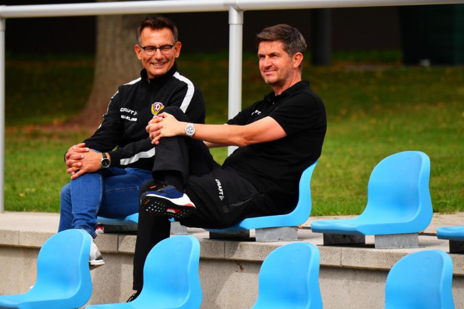 Michael Born (l.) und Ralf Becker im Trainingslager in Heilbad Heiligenstadt. Ihre gemeinsame Arbeit dauerte 72 Tage.