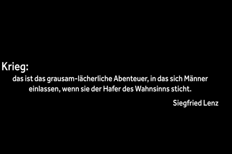 """Film-Intro. Erst im Jahr 2016 konnte Siegfried Lenz' bereits 1951 verfasster Roman """"Der Überläufer"""" erscheinen. Der Verlag wollte das Buch über einen desertierenden Wehrmachtssoldaten nicht veröffentlichen. Jetzt ist es für die ARD verfilmt worden."""